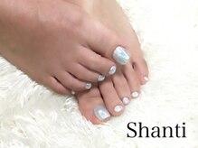シャンティ ネイルサロン(Shanti nail salon)/オーロラミラーフットネイル☆☆