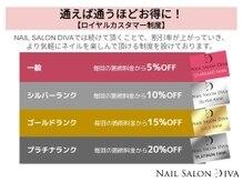 ネイルサロン ディーバ 心斎橋店(Nail Salon Diva)の雰囲気(通えば通うほどお得になるロイヤルカスタマー制度)