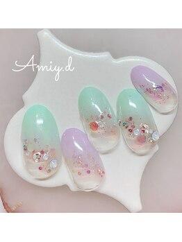 アミーディ ネイル(Amiy.d Nail)/【定額】8800円☆パステルグラデ