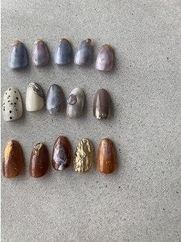 アンバー(Amber)の写真/〈150色以上有〉あなただけのオリジナルカラーを作成☆肌なじみが良い色に♪自爪に優しいフィルインも◎