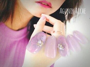 【紫陽花ネイル】