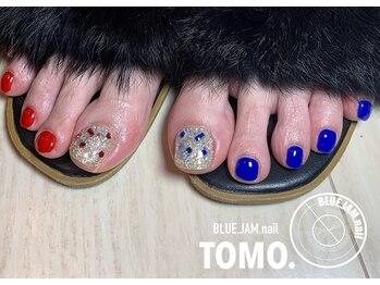 ブルージャムネイル(BLUE.JAM.nail)/キラキラ☆フットネイル
