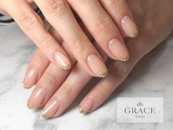 グレース ネイルズ(GRACE nails)/キラキラフレンチ