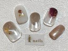 アイネイルズ 梅田店(I nails)/塗りかけブラウン