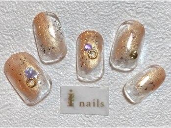 アイネイルズ 梅田店(I nails)/パールカラーニュアンス