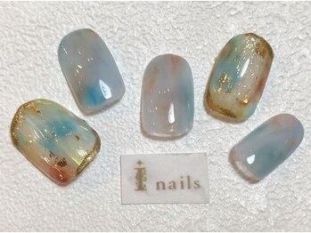 アイネイルズ 梅田店(I nails)/ブルーニュアンス