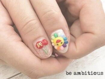 ネイルサロンアンドスクール ビーアンビシャス(be ambitious)/持ち込みアート