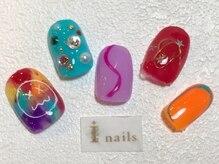 アイネイルズ 梅田店(I nails)/カラフルPOPネイル