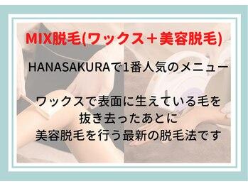 ブラジリアンワックスアンドブライダルサロン ハナサクラ(HANASAKURA)/MIX脱毛(ワックス+美容脱毛)