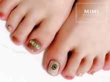 ミミ(MIMI)/フットネイル 大理石 ターコイズ