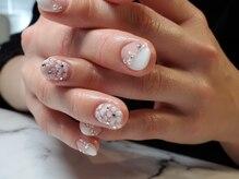 ネイルサロンブラン(nail salon BLANC)/お花の敷き詰めブライダルネイル
