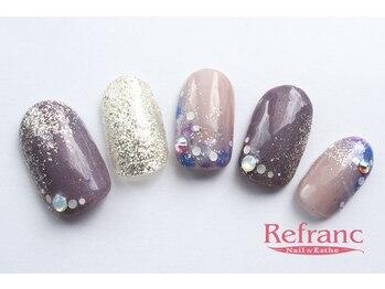 ルフラン 武蔵境店(Refranc)/大人カラーの紫陽花ネイル♪