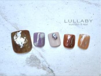 ララバイ 恵比寿店(LULLABY)/秋冬くすみネイル