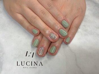 ネイルスタジオ ルキナ(LUCINA)/YM-381 ピスタチオカラー