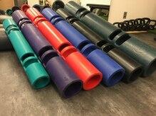 調布整体院の雰囲気(ViPR、ウォーターバッグ、バトルロープ、ケトルベルなど。)