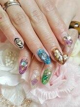 トリーシア(Nail & Beauty Salon Tri-xia)/天然石風ネイル