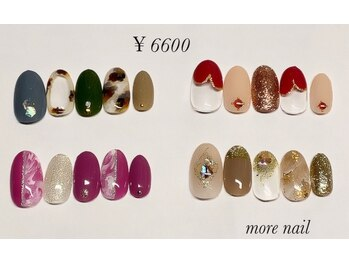 モアネイル(more nail)/10月定額デザイン ¥6600