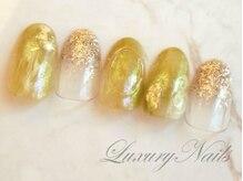 ラグジュアリーネイルズ カワグチ(Luxury Nails Kawaguchi)/グリーンニュアンス*