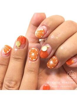 ネイルスタジオ レイナローズ(NAIL STUDIO Reina Rose)/ジューシーなオレンジ