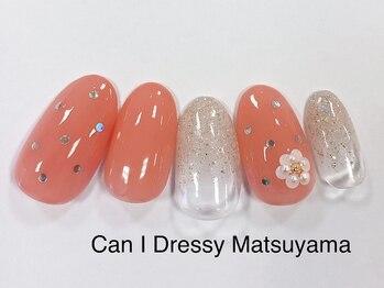 キャンアイドレッシー 松山大街道店(Can I Dressy)/ドット×パールフラワー 4400円