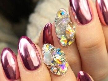 マムコレクション/ピンクミラー 宝石 ニュアンス