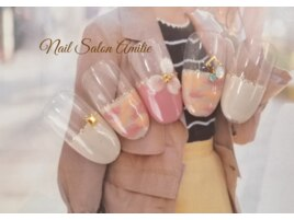 お花☆桜3Dフレンチネイル