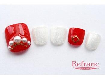 ルフラン 武蔵境店(Refranc)/大きめパールが赤で引き立ちます