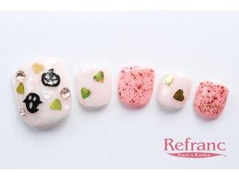 ルフラン 武蔵境店(Refranc)/ふわっとピンクでハロウィンnail