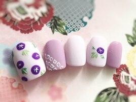 紫陽花の可愛い和風ネイル!