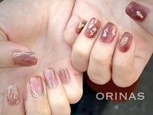オリナス(ORINAS)の雰囲気(トレンドデザインもフィルインとパラジェルで爪に負担なく◎)