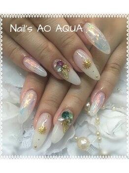 ネイルズアオアクア(Nail's AO AQUA)/デザインネイル☆