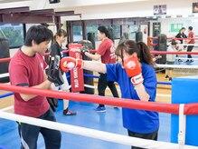 コサカボクシングジムの雰囲気(体全体を使う運動なので効果的に有酸素運動!!)