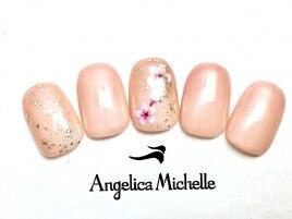 桜ショートネイル