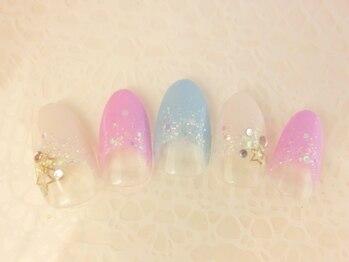 ■渋谷>8640円/春カラーフレンチ