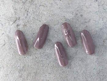 ドレス ネイルアンドアイラッシュ 梅田(Dress)の写真/[西梅田/堂島]ワンカラー/グラデ/ラメグラ/ストーン2粒付など豊富なメニュー♪上品なnailで美しい指先へ♪