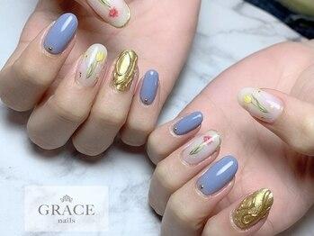 グレース ネイルズ(GRACE nails)/ゴールドネイル