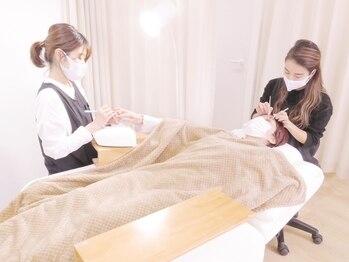 ヴォートル中野 ネイル まつげエクステの写真/《最高級セーブル/ネイル》同時施術が可能◎忙しい女性に嬉しい!ネイルもまつ毛も一度で♪