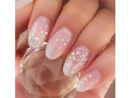 冬のダイヤモンドネイル