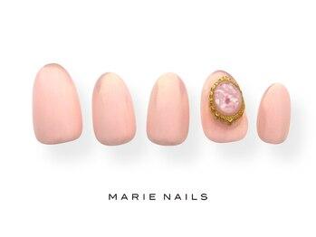 マリー ネイルズ いわきラトブ店(MARIE NAILS)/定額6600税込 ピンク 0715b