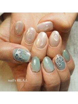 ネイルズリアル(nail's REAL)/手書きアート