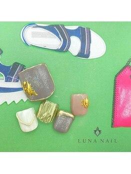ルナ ネイル(LUNA NAIL)/【フット】ニュアンス×くすみ