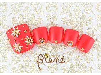 ネイルサロン ビーネ(nail salon Biene)/アーリーサマーフット★12980-7