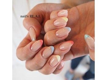 ネイルズリアル(nail's REAL)/パステルフレンチ
