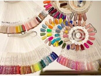 プログレス 成田店(PROGRESS by ヂェムクローバーヘア)の写真/エリアトップクラスのカラーバリエーション☆豊富なカラーとラメであなたの理想のデザインに仕上げます♪
