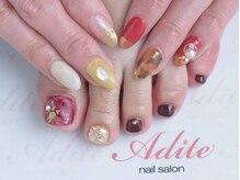 ネイルサロン アディーテ(nail salon Adite)の雰囲気(オフ付ハンド&フットジェルset11000円もご用意♪♪)