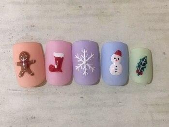 クリスマスアートネイル