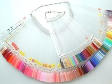 100色以上のカラーをご用意しているので好みのカラーが見つかる!