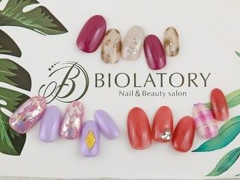 ネイルアンドビューティーサロン ビオラトリー(BIOLATORY)の写真/≪ハンドつや色ワンカラー¥4000≫ケア込み*フォルムにこだわった美爪に♪カラー1色追加無料!通いやすさ◎
