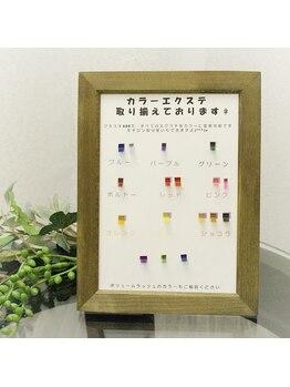 日本アイリスト協会認定サロン ビーナスフォート皆実店/カラーエクステも豊富