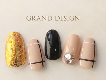 グランドデザイン 岐阜店(GRAND DESIGN)/キラキラストーンネイル
